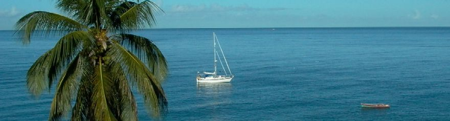 St Pierre, Martinique: Free Spirit and a fishing boat