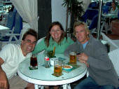 Rubicon Marina, Lanzarote: chilling with Nick & Ellen in Cafe del Mar